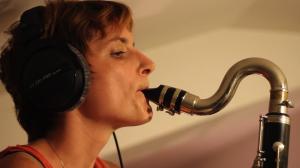 Marie à la clarinette basse