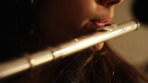 Alix à la flûte